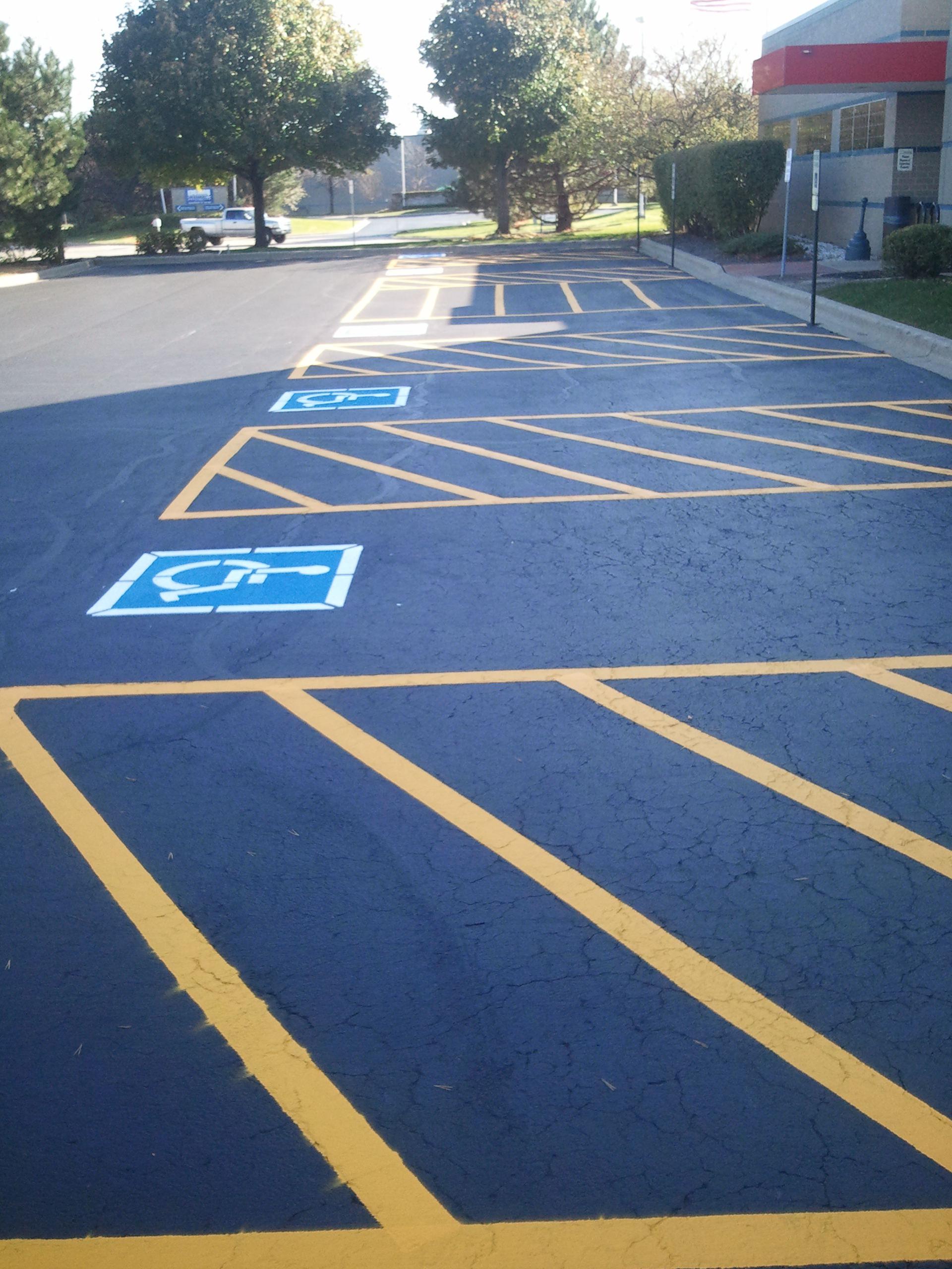 Striping   Advanced Pavement & Property
